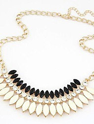 Fashion Metal Rhinestone Resin Necklace