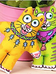 mascotas dientes molares no tóxicos naturales pequeños juguetes lindos del animal (color al azar)