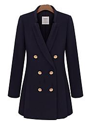 Women's Coats & Jackets , Cotton Blend Casual MiLi