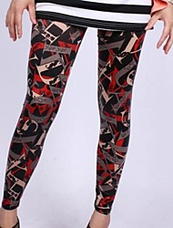 Women Print Legging , Cotton Blends