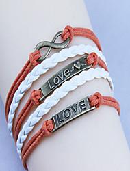 love love 8 pulsera de las mujeres de la armadura de la vendimia