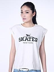 estilo de la parodia de la impresión del perro de la camiseta de las mujeres haoduoyi®