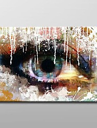 Modern Abstract Oil Painting with Stretched Frame Ready to Hang Hand-Painted Canvas