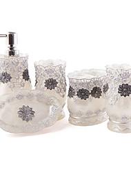cadeau chritmas, 5 pièce en matériau de résine collection de bain ensemble, ensemble de salle de bain, accessoires de bain ensemble