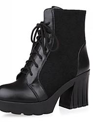 женской обуви мода коренастый пятки ботильоны с шнуровке и сплит сустава