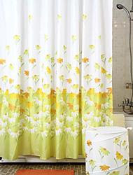 patrón de la primavera de ducha de poliéster cortina