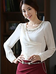Women's Shirt Order Bead Chiffon Unlined Upper Garment  Shirts