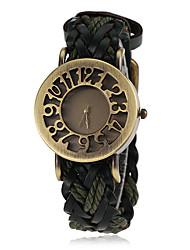 caso das mulheres bronze malha pu faixa de relógio de pulso de quartzo (cores sortidas)