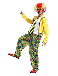 Funny Clown Polka Dot Pattern Men's Halloween Costume Suit