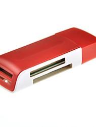 lecteur de carte de haute qualité 15-en-1 USB 2.0 avec la mémoire haute vitesse 480 Mo / s maximum (couleur aléatoire)