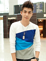 Männer neue Winter V-Ausschnitt Strickhemd des dünnen koreanischen Pullover