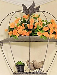 Metal Wall Art Wall Decor,Birdcage Wall Mounting Type Flower Stand Wall Decor