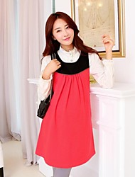 Maternity Wear Fashion Hit Color Design Simple Sleeveless Braces Dress