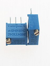 3296 Potentiometer 500kohm Adjustable Resistors - Blue (10 PCS)