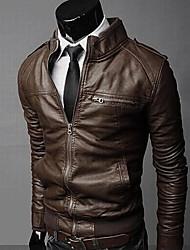 A Fish Fashion Slim Zipper Short Jacket