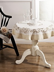 Table Cloths Classical Embroidery Tablecloth Dia 85cm