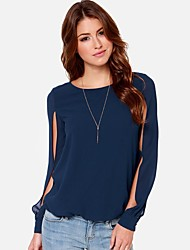 Women's Blue Blouse Long Sleeve