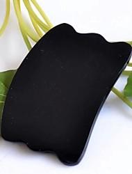 Traditional Acupuncture Massage Tool Buffalo Horn Square Wave shape Gua Sha Tool 8*5cm