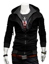 LangTuo Fashion Kausal Schlank Kontrast Farbe Cardigan Hoodie Thin Mantel (Schwarz)
