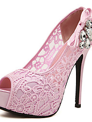 hheeled Spitze diamonade High Heel Peep shoes_j100