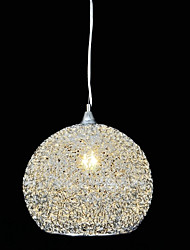 sencilla y moderna lámpara de araña de alambre de aluminio