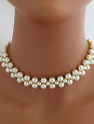 Shixin® Fashion Double Wedding White Pearl Necklace(1 Pc)
