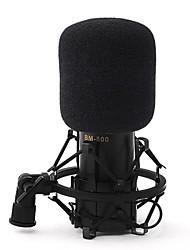 zwarte uitzending en opname microfoon bm-800
