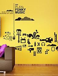 adesivos de parede decalques da parede, moderno indivíduo música de guitarra de piano composição musical de parede adesivos de PVC