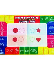 74 * 50 * 2cm Aquadoodle colorido mágico de los niños con 3 plumas juguetes de la novedad educativos (3 bolígrafos)