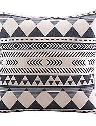 triângulo e algodão da listra / fronha decorativo linho