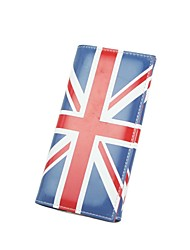 Women'S British Flag style Long Leather Wallet Coin Purse