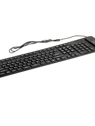 kn-109 impermeable y flexible teclado usb cable portátil