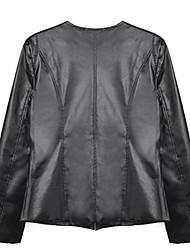 Women's Plus Sizes Jewel Encrusted Faux Leather Blazer