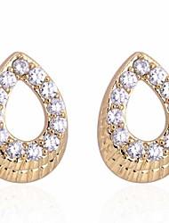Women's Fashion Special Design 18K Gold Zircon Earrings