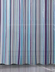patrón de rayas PEVA cortina de la ducha