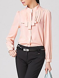 Women's Occupation Stand Collar Slim Shirts