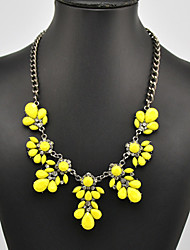 Eternity Women's Gem Flower Pattern Necklace