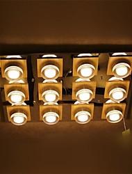 conduziu a lâmpada do teto de carvalho, doze luzes, branco neutro, 220 ~ 240V (ld179)