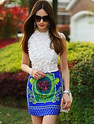 Dabuwawa Women'S Floral Print Bodycon Skirts