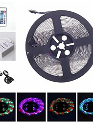 RGB 5M 30W 300LED 3528SMD DC12V strip light RGB Remote Control 24Key IR Controller AC100-240V