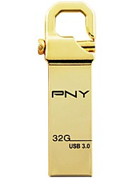 PNY 32GB USB 3.0 Flash Drive Metal Style Local Tyrants HOOK Attache 3.0 gold