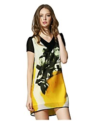 Cavos® Women's V-neck Floral Print Dress