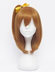 Pelucas de Cosplay Amor en Vivo Honoka Kōsaka Marrón Corto Animé Pelucas de Cosplay 35 CM Fibra resistente al calor Mujer
