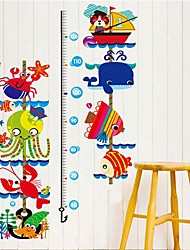 Wall Stickers Wall Decals, Cartoon Marine animal height stick PVC Wall Stickers