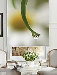 Botanic Style Leaf & Tiny Flower Roller Shade