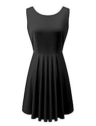 cor sólida sexy backless vestido de festa vestido plissado das mulheres