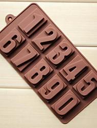 10 Hole Number Shape Cake Ice Jelly Chocolate Molds,Silicone 22×11.2×2 CM(8.7×4.4×0.8 INCH)