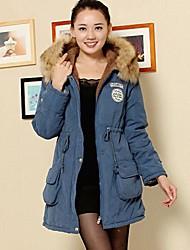 MEROKETTY®Women's Fur Collar Warm Thick Hoodies Zipper Padded Coat