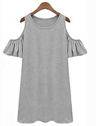 Women Clothes Butterfly Sleeve Cotton Cute Strapless Dress Novelty T Shirt Dress