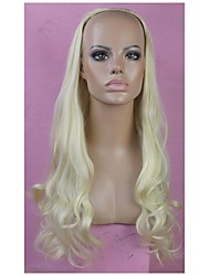 Half Wig Blonde Long High Quality Big Wave Female Elegant Fashion Synthetic Celebrity Wig